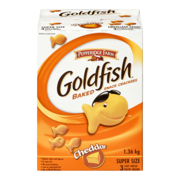 PEPPERIDGE GOLDFISH CHEDDAR...