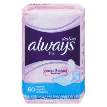 ALWAYS LINERS THIN UNSCENTED