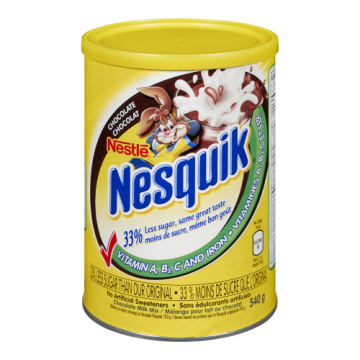 NESQUIK LESS SUGAR...
