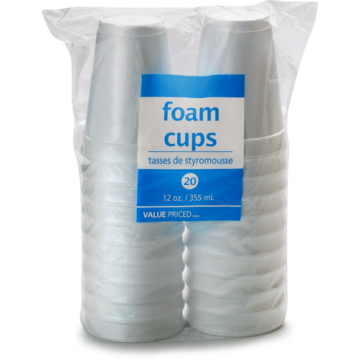WF 12OZ FOAM CUPS