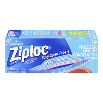 ZIPLOC FREEZER BAGS MEDIUM...