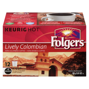 FOLGERS K CUPS LIVELY...