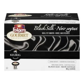 FOLGERS K CUPS BLACK SILK