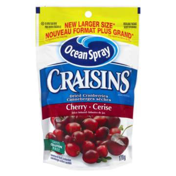 OCEAN SPRAY CHERRY CRAISINS...
