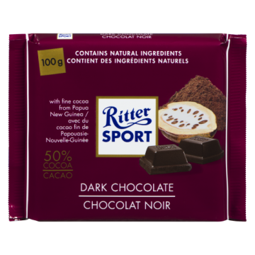 RITTER SPORT DARK CHOCOLATE...