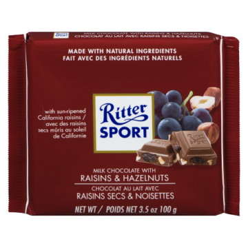 RITTER SPORT RAISIN NUT -...