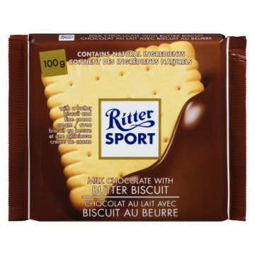 RITTER SPORT BUTTER BISCUIT...