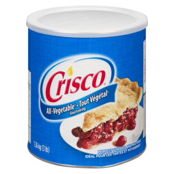 CRISCO VEGETABLE SHORTENING...
