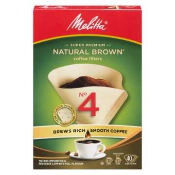 MELITTA NO4 CONE BROWN...