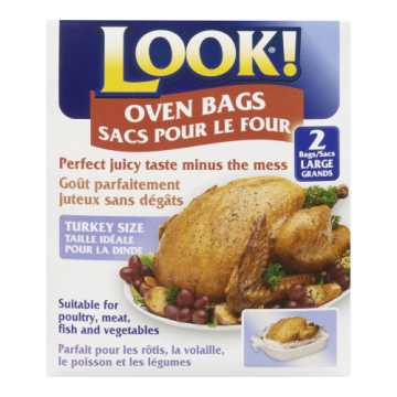 LOOK! LARGE OVEN BAGS - 2 Pack