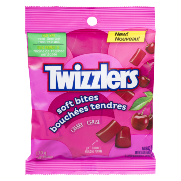TWIZZLER SOFT BITES CHERRY...