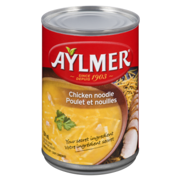 AYLMER CHICKEN NOODLE SOUP...
