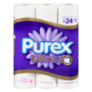 PUREX ULTRA DOUBLE 12 ROLL...