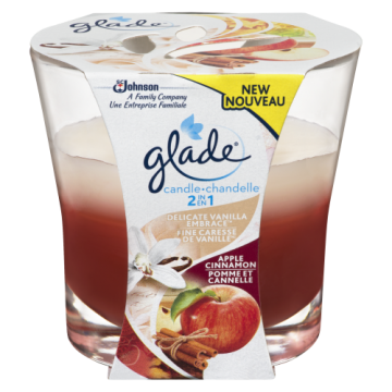 GLADE 2IN1 CANDLE APPLE &...