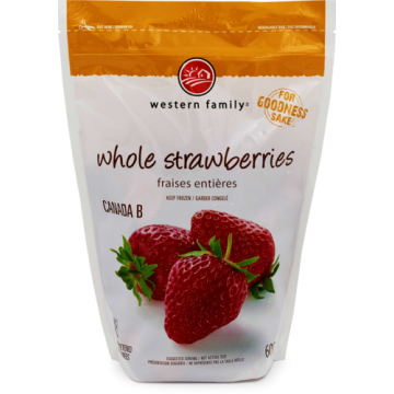 WF STRAWBERRIES IQF - 600 Gram