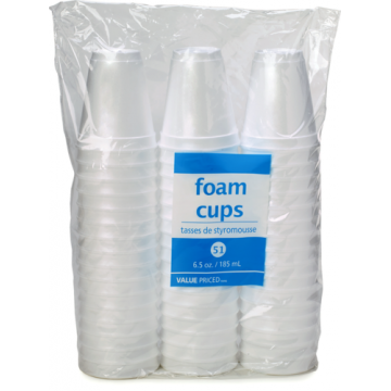 WF 6.5OZ FOAM CUPS