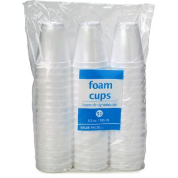 WF 7OZ FOAM CUPS - 51 Pack