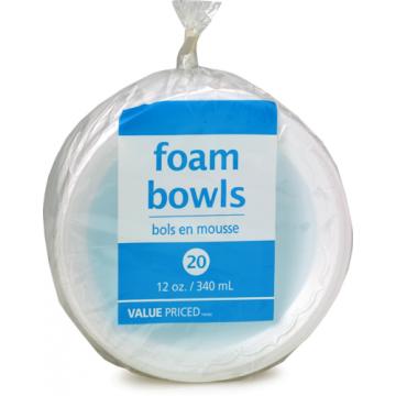 WF 12OZ FOAM BOWLS - 20 Pack