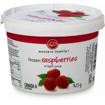 WF RASPBERRIES IN SYRUP -...