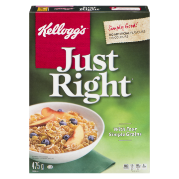KELLOGGS JUST RIGHT CEREAL...