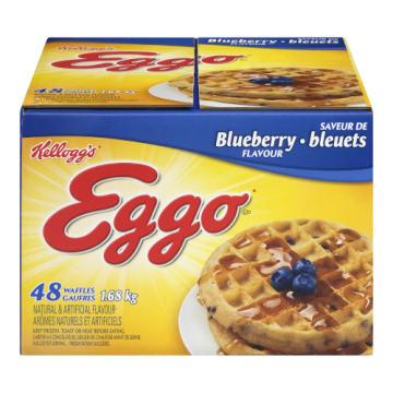 EGGO WAFFLES BLUEBERRY 48S