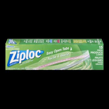 ZIPLOC VEGETABLE BAGS - 15...