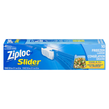 ZIPLOC SLIDE LOC FREEZER BAG L