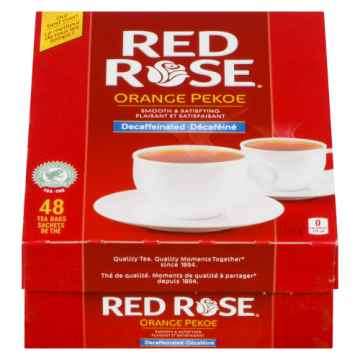 RED ROSE ORANGE PEKOE DECAF