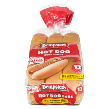 DEMPSTER HOT DOG BUNS - 12...
