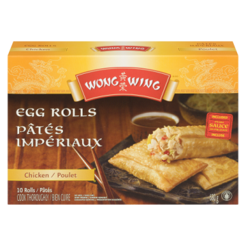 WONG WING CHICKEN EGG ROLLS...