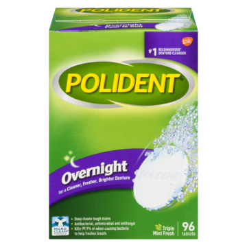 POLIDENT OVERNIGHT TABLETS...