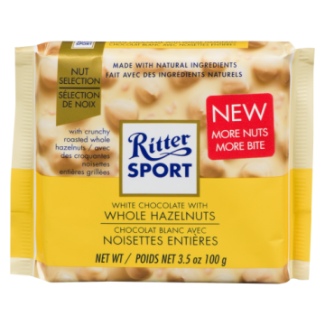 RITTER SPORT WHITE WHOLE...