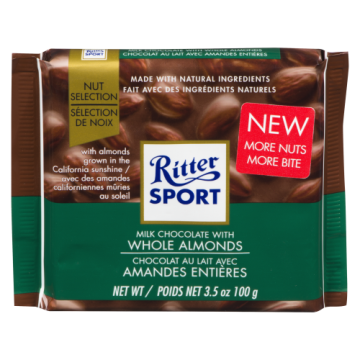 RITTER SPORT WHOLE ALMOND -...