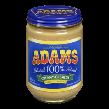 ADAMS UNSALT PEANUT BUTTER...