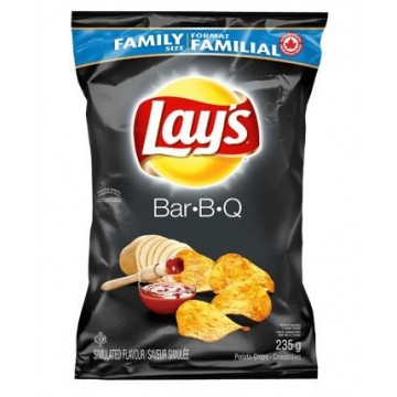 LAY'S BBQ CHIPS FAMILY SIZE...