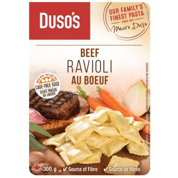 DUSO'S BEEF RAVIOLI - 300 Gram